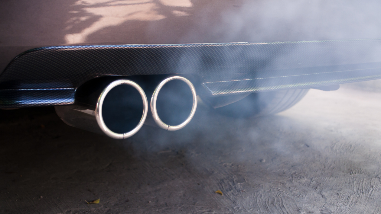 tailpipe is spewing exhaust